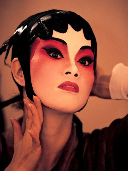 Actress in make-up